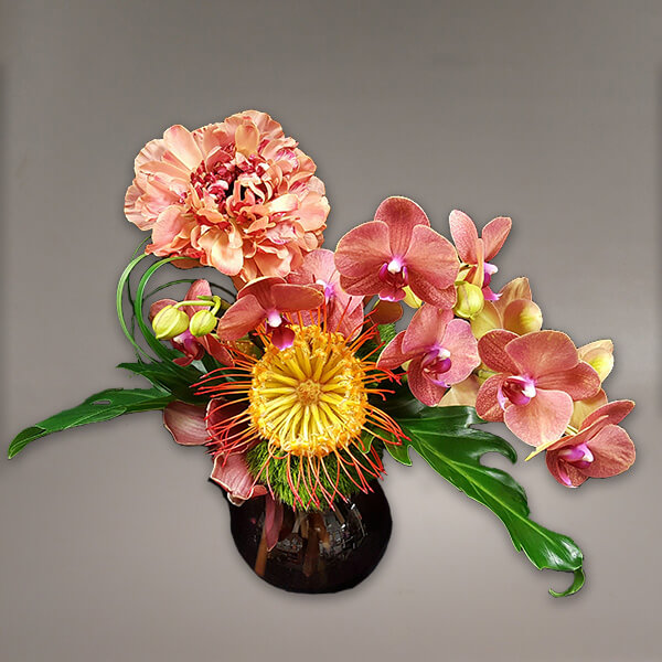A take on a pin cushion arrangement,