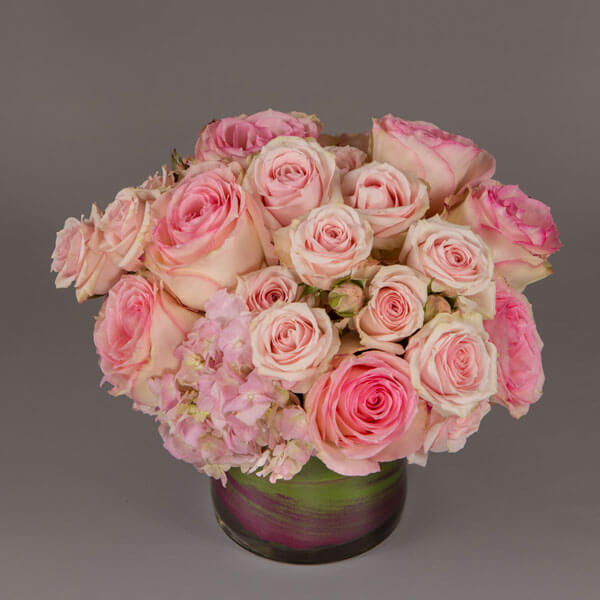 Portray your love with lovable pink roses